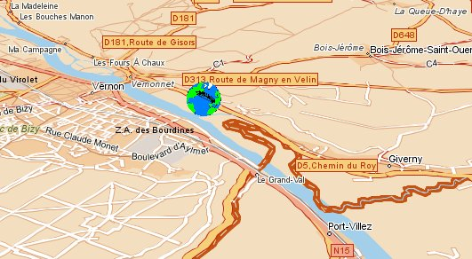 Map Of France Giverny.Bed And Breakfast Giverny Vernon Hermitage Access Map To Giverny Vernon